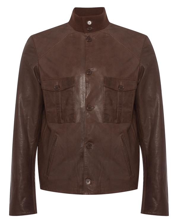 куртка из натуральной кожи с карманами  артикул 3129 марки S.W.O.R.D. купить за 29000 руб.