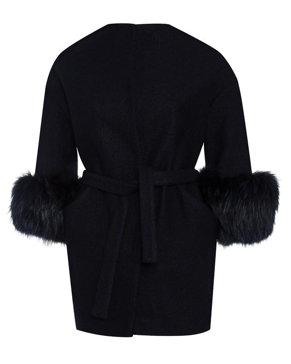 пальто полушерстяное с отделкой мехом енота артикул 31AAFW17 марки Ava Adore купить за 43800 руб.