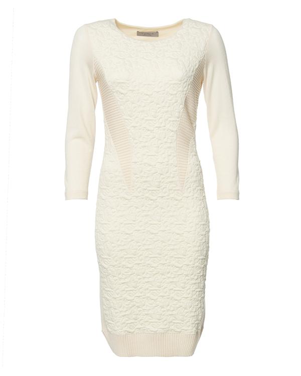 платье прилегающего силуэта, с объемным набивным рисунком артикул 39639 марки D.EXTERIOR купить за 14800 руб.