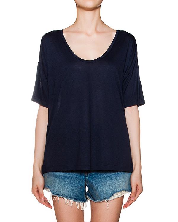 футболка свободного кроя из мягкой вискозы артикул 400216S16 марки T by Alexander Wang купить за 4600 руб.