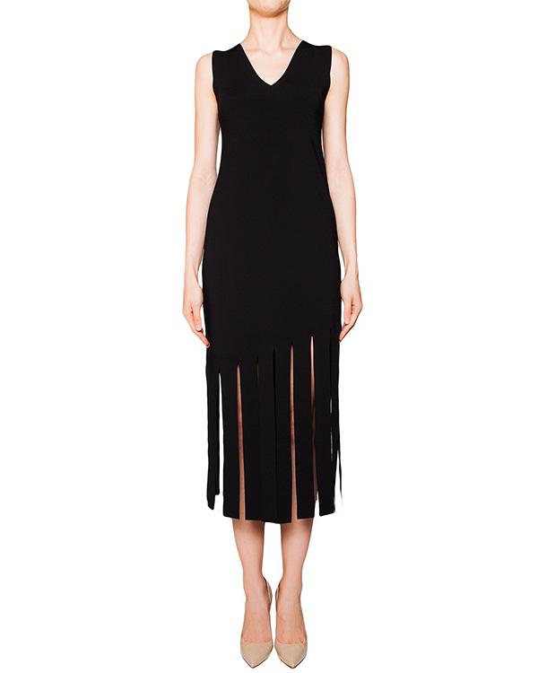 платье из плотной эластичной ткани, декорировано разрезами артикул 42229 марки D.EXTERIOR купить за 17400 руб.