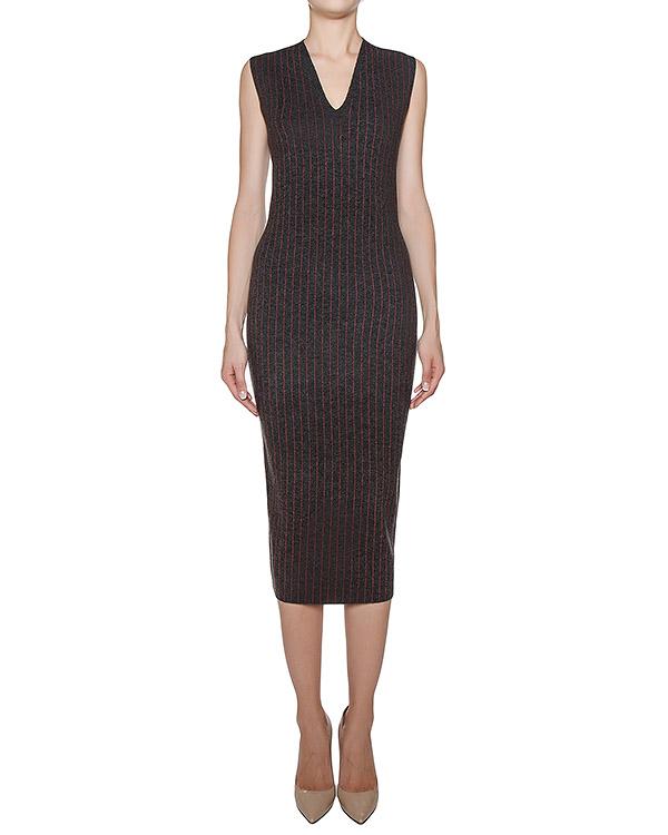 платье из плотного шерстяного трикотажа в тонкую полоску артикул 43276 марки D.EXTERIOR купить за 13400 руб.