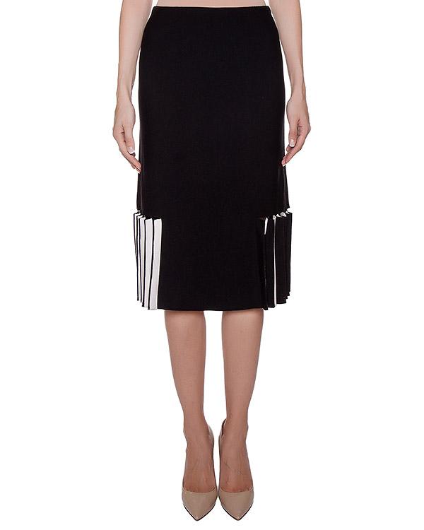 юбка из плотного полушерстяного трикотажа артикул 43467 марки D.EXTERIOR купить за 15200 руб.