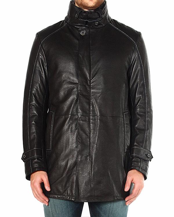 куртка прямого силуэта, из матовой фактурной кожи артикул 44199 марки Gimos купить за 60100 руб.