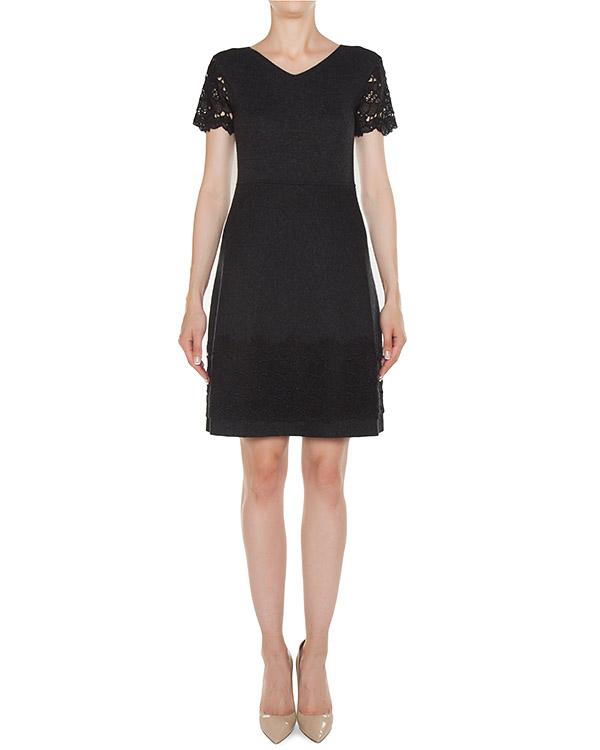 платье приталенного силуэта с отделкой кружевом артикул 45004 марки D.EXTERIOR купить за 28800 руб.
