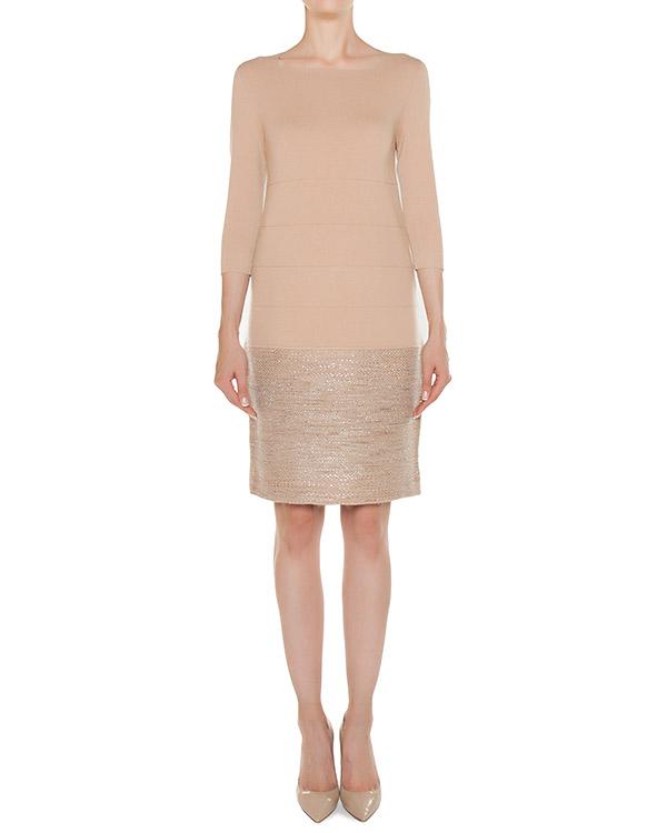 платье из трикотажной вискозы с добавлением кашемира и шерсти артикул 45077 марки D.EXTERIOR купить за 26600 руб.