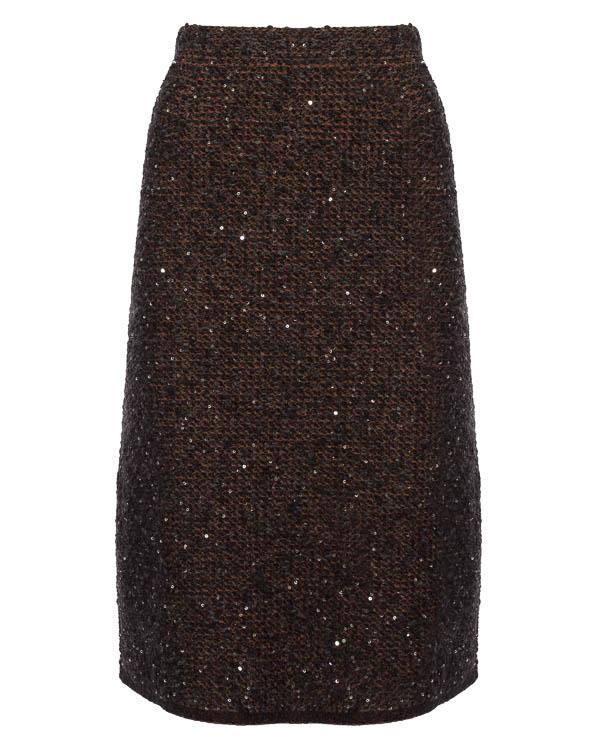 юбка из шерсти и мохера артикул 45093 марки D.EXTERIOR купить за 15400 руб.