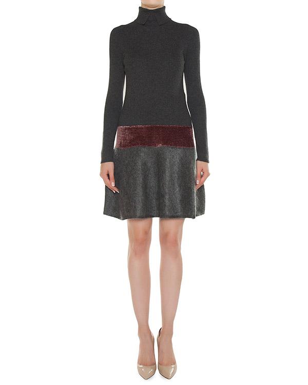 платье из шерсти с отделкой бархатом артикул 45203 марки D.EXTERIOR купить за 21300 руб.