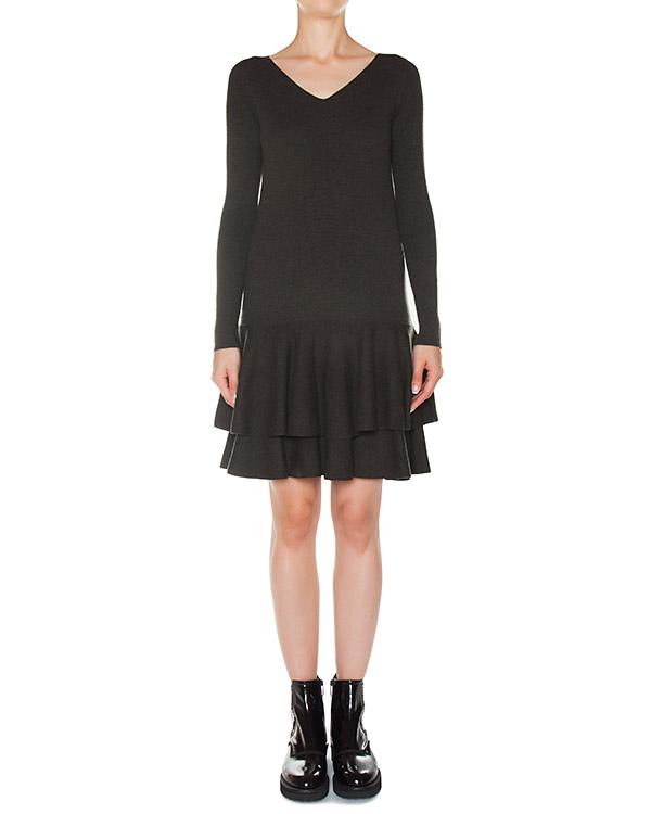 платье из трикотажной шерсти с оборками  артикул 45235 марки D.EXTERIOR купить за 24600 руб.