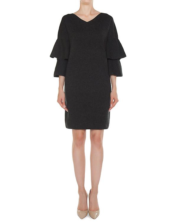 платье из трикотажной шерсти с объемными воланами артикул 45238 марки D.EXTERIOR купить за 22500 руб.