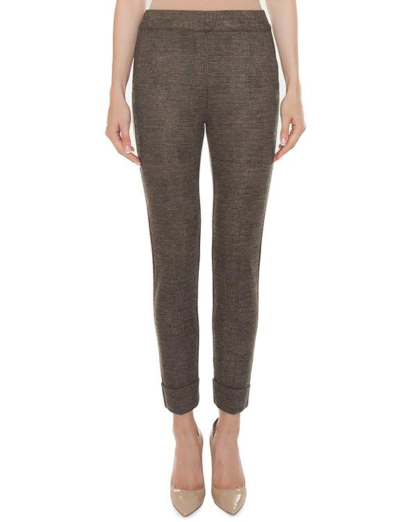 брюки укороченного силуэта из плотной вискозы  артикул 45875 марки D.EXTERIOR купить за 13900 руб.