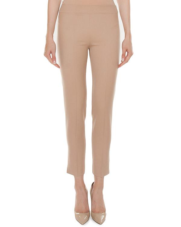 брюки из костюмной шерсти бежевого оттенка артикул 45903 марки D.EXTERIOR купить за 11800 руб.