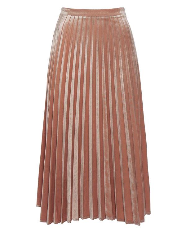 юбка плиссе из бархата артикул 45936 марки D.EXTERIOR купить за 12700 руб.