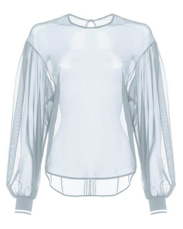 блуза из полупрозрачной вискозы  артикул 48770 марки D.EXTERIOR купить за 18700 руб.