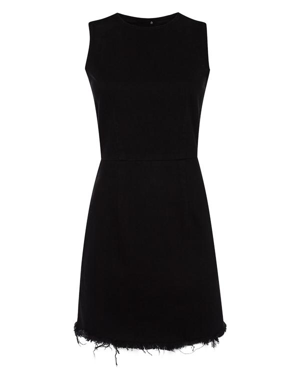 платье мини из денима с необработанной линией низа артикул 4D276009AJ марки T by Alexander Wang купить за 13700 руб.