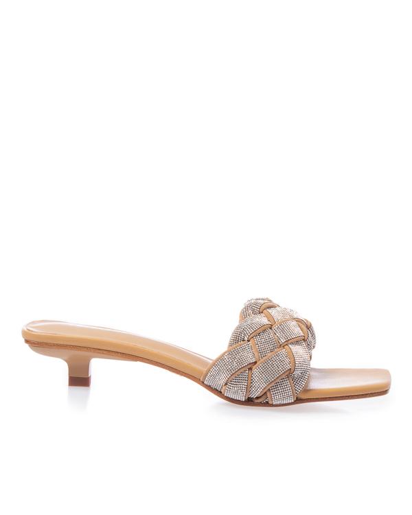 Lola Cruz из кожи на миниатюрном каблуке артикул  марки Lola Cruz купить за 23300 руб.