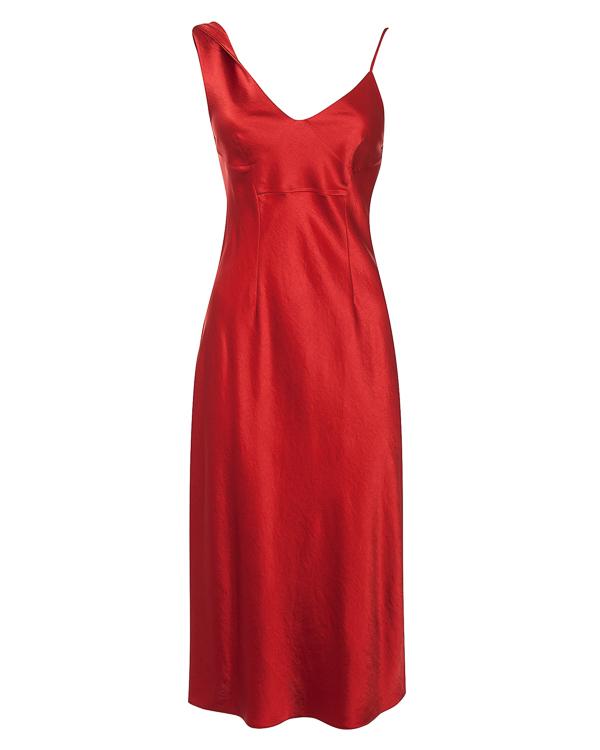 платье приталенного силуэта из атласного материала  артикул 4W186008U6 марки T by Alexander Wang купить за 20400 руб.