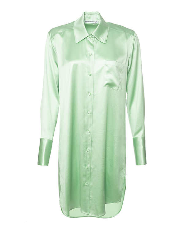 Alexander Wang -рубашка из атласного сатина артикул  марки Alexander Wang купить за 49300 руб.