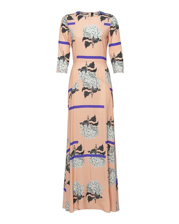 платье из тонкого шелка с цветочным рисунком артикул 5350-5 марки Poustovit купить за 17300 руб.