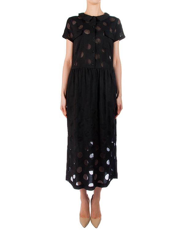 платье приталенное из мягкого хлопка с перфорированными элементами артикул 5363-10 марки Poustovit купить за 15500 руб.