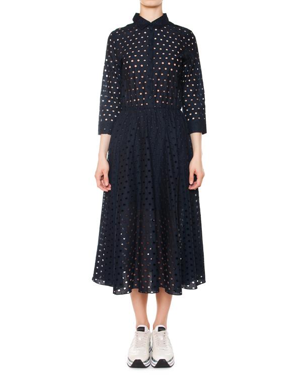платье из перфорированного хлопка артикул 5448-22 марки Poustovit купить за 13200 руб.