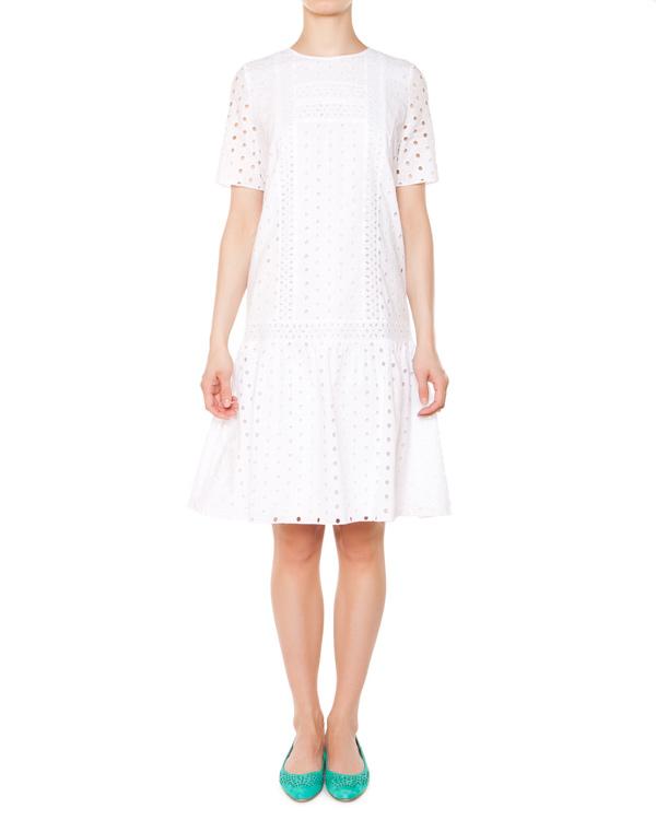 платье из перфорированного хлопка артикул 5452 марки Poustovit купить за 10700 руб.