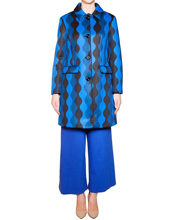 пальто из неопрена с контрастным орнаментом артикул 54VP125 марки VIVETTA купить за 11600 руб.