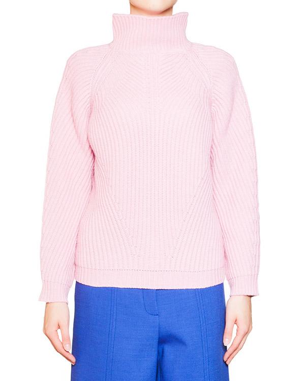 свитер из мягкой шерсти крупной вязки с высоким воротом артикул 54VP739 марки VIVETTA купить за 9600 руб.