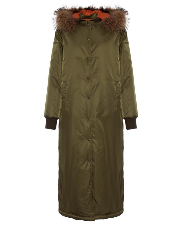 пальто прямого силуэта с меховой отделкой воротника артикул 55AAFW17 марки Ava Adore купить за 58400 руб.