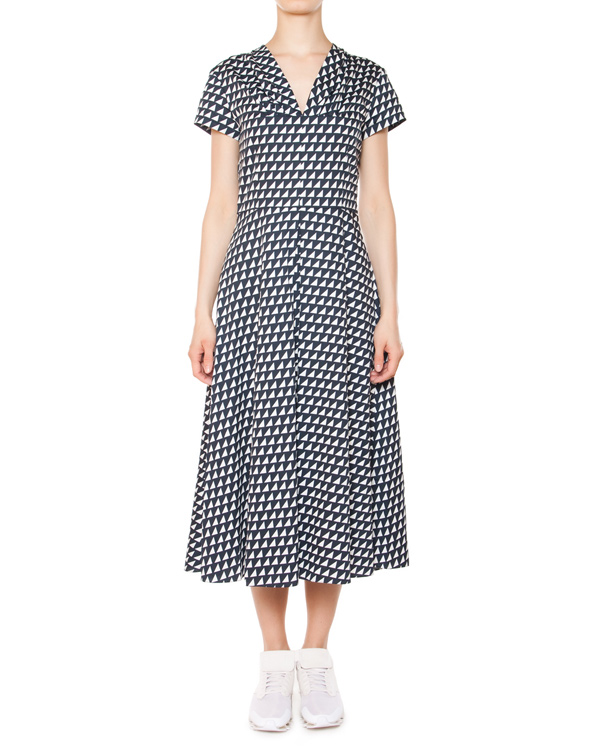 платье из хлопка с геометрическим принтом артикул 5679 марки Poustovit купить за 11300 руб.