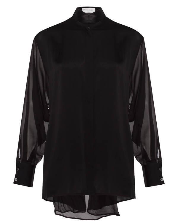 блуза удлиненного силуэта из шелка артикул 570415 марки Amanda Wakeley купить за 23900 руб.