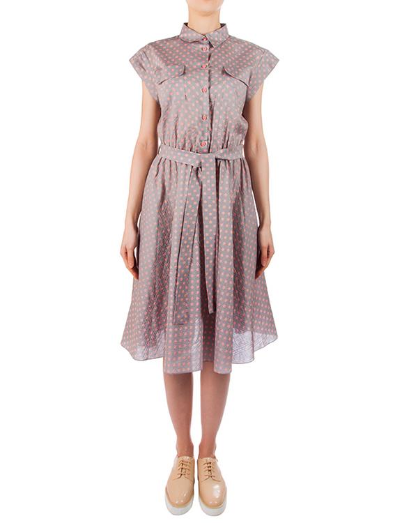 платье из мягкого легкого хлопка в мелкий горох артикул 5785-18 марки Poustovit купить за 9900 руб.