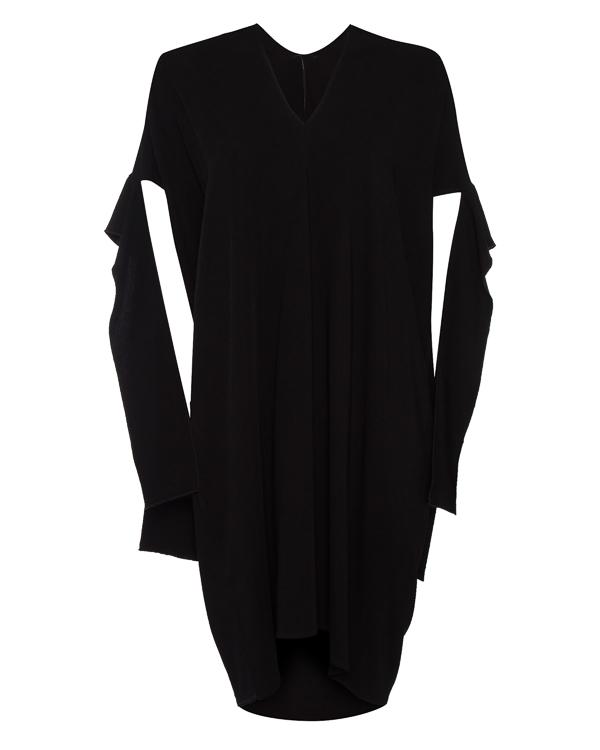 платье из вискозы с вырезами на рукавах артикул 6355 марки MASNADA купить за 27200 руб.