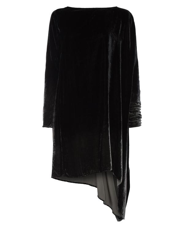 платье из бархата асимметричной длины артикул 6372 марки MASNADA купить за 27800 руб.