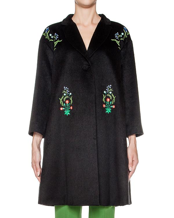 пальто из мягкой ворсистой ткани с цветочной вышивкой артикул 64VV112 марки VIVETTA купить за 26400 руб.