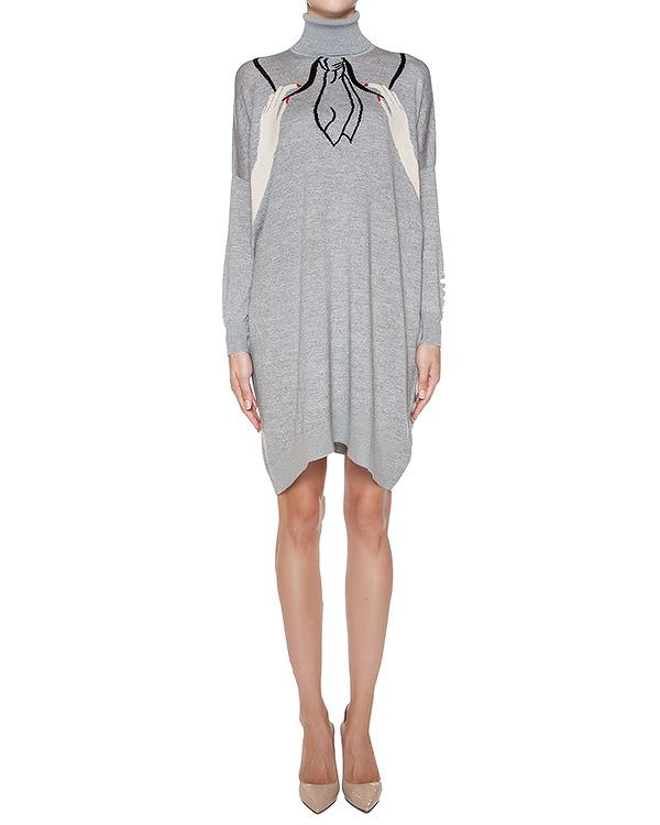 платье из шерстяного трикотажа с рисунком артикул 64VV721 марки VIVETTA купить за 22400 руб.