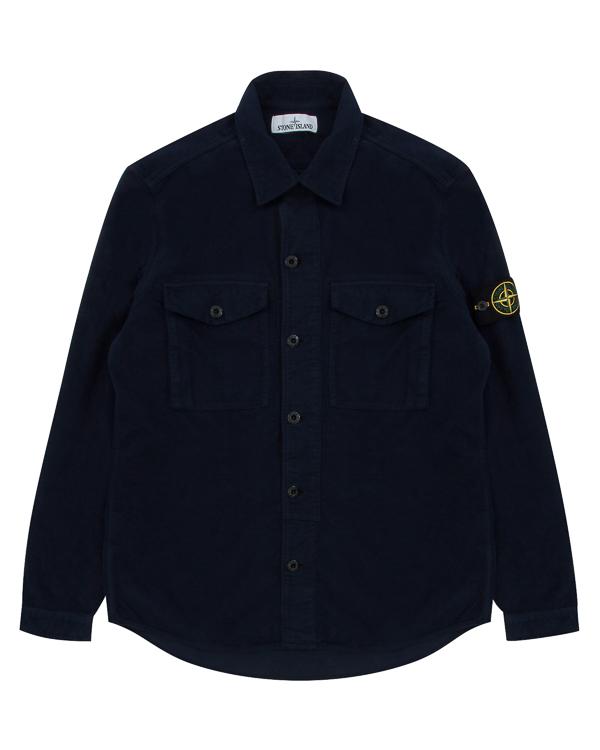 рубашка из хлопка с фирменным патчем бренда артикул 671511102 марки Stone Island купить за 10400 руб.