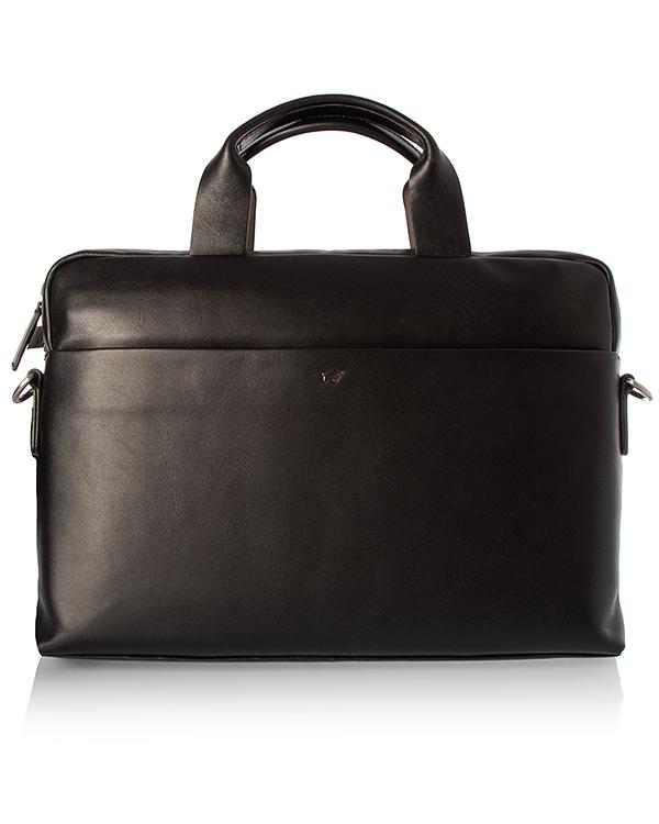 Braun Buffel -портфель из кожи с тиснением логотипа бренда  артикул  марки Braun Buffel купить за 31490 руб.