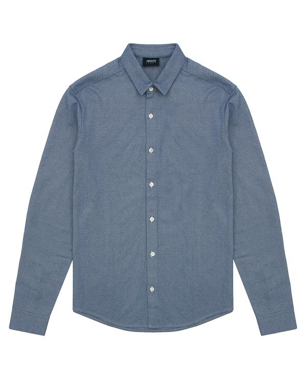 рубашка из хлопка с мелким узором  артикул 6Y6C09-6NMBZ марки ARMANI JEANS купить за 7400 руб.