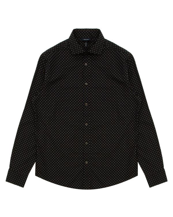 рубашка из хлопка с мелким узором артикул 6Y6C74 марки ARMANI JEANS купить за 6000 руб.