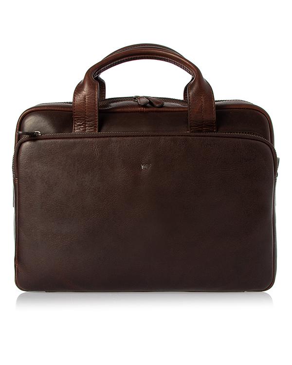 Braun Buffel -портфель из кожи с тиснением логотипа бренда  артикул  марки Braun Buffel купить за 28490 руб.
