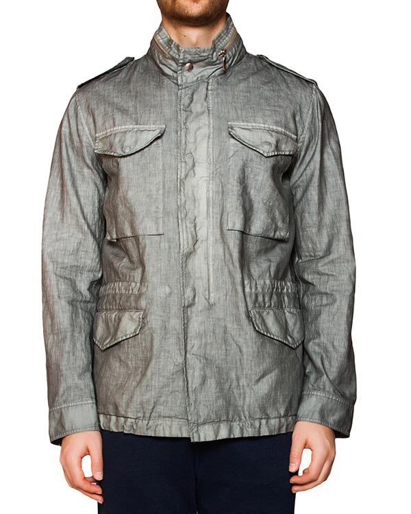 куртка прямого кроя из плотного натурального льна артикул 8144F083 марки 120% lino купить за 12600 руб.