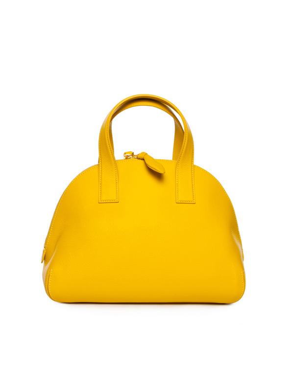 сумка из натуральной фактурной кожи насыщенного желтого цвета артикул 8A7502 марки CHEAP & CHIC купить за 14600 руб.