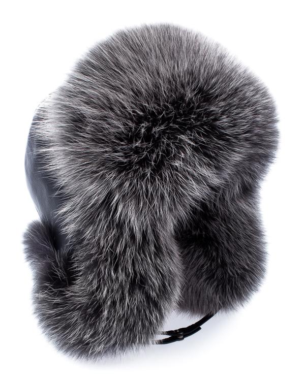 МКС ушанка из кожи с мехом лисы артикул  марки МКС купить за 10800 руб.