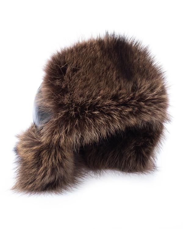 Kaminsky ушанка из кожи с мехом енота артикул  марки Kaminsky купить за 12600 руб.