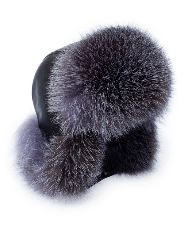 Kaminsky -ушанка из кожи с мехом лисы артикул  марки Kaminsky купить за 10800 руб.