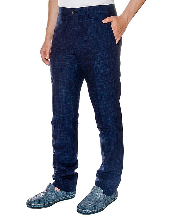 брюки прямого кроя из смеси хлопка и льна  артикул 913640 марки Cortigiani купить за 13400 руб.