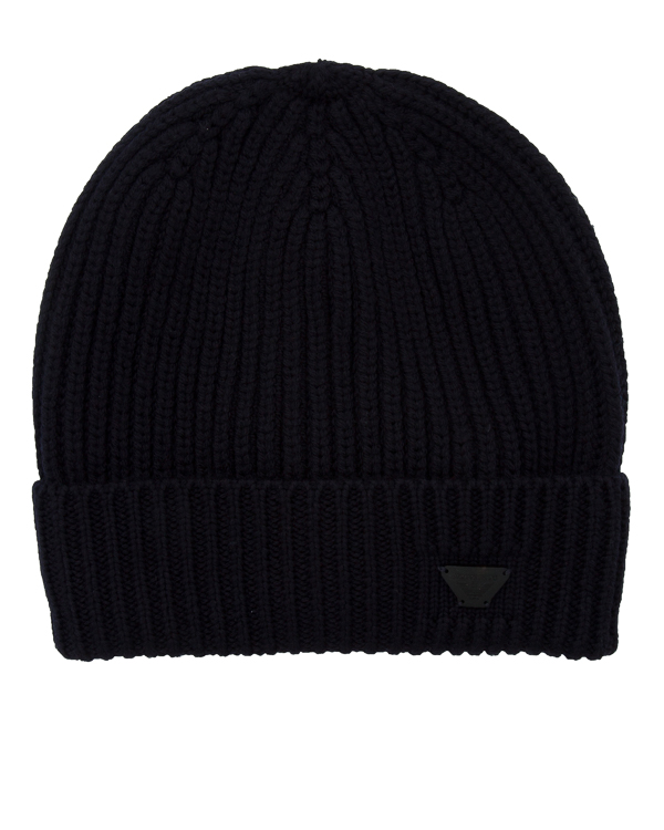 шапка из шерсти с отворотом артикул 934029-7A марки ARMANI JEANS купить за 3600 руб.