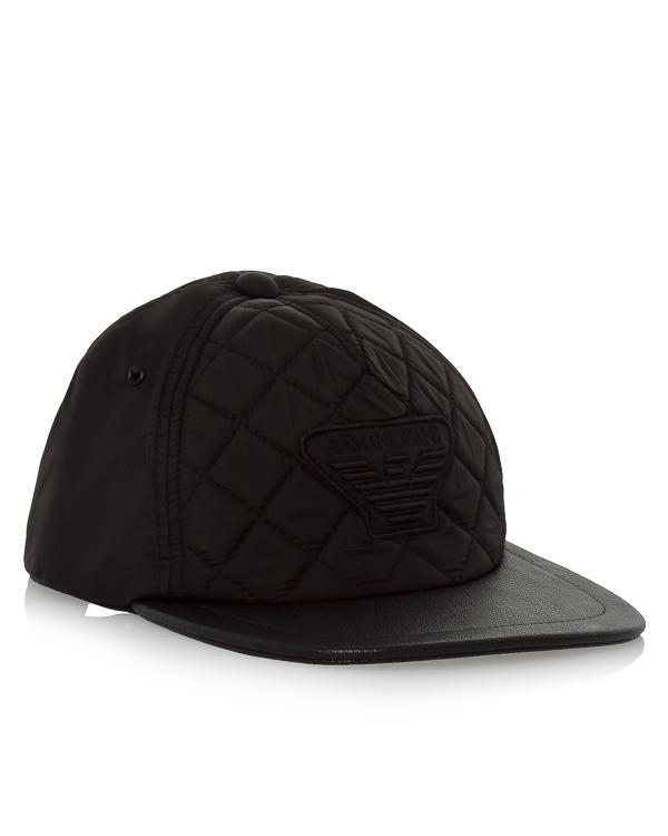бейсболка со стеганой вставкой и вышивкой бренда артикул 934096 марки ARMANI JEANS купить за 3400 руб.