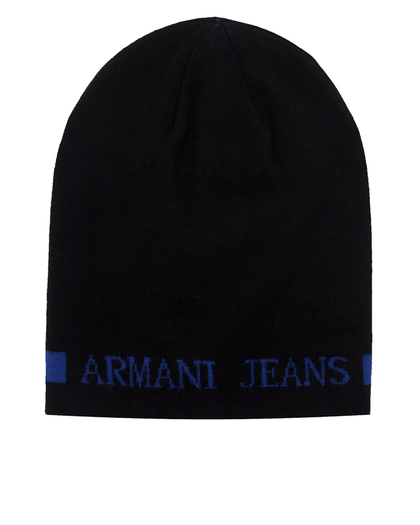 шапка двусторонняя с логотипом бренда артикул 934112 марки ARMANI JEANS купить за 4600 руб.